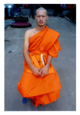 Pairoj as a monk in Thailand (Courtesy of Pairoj Pichetmetakul)